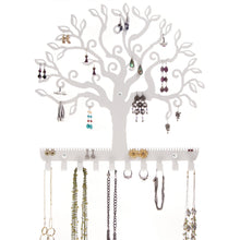 Load image into Gallery viewer, Hanging Jewelry Holder, Earring Organizer & Necklace Rack, Wall Mount Tree of Life