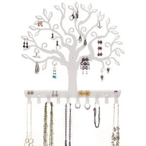 Hanging Jewelry Holder, Earring Organizer & Necklace Rack, Wall Mount Tree of Life