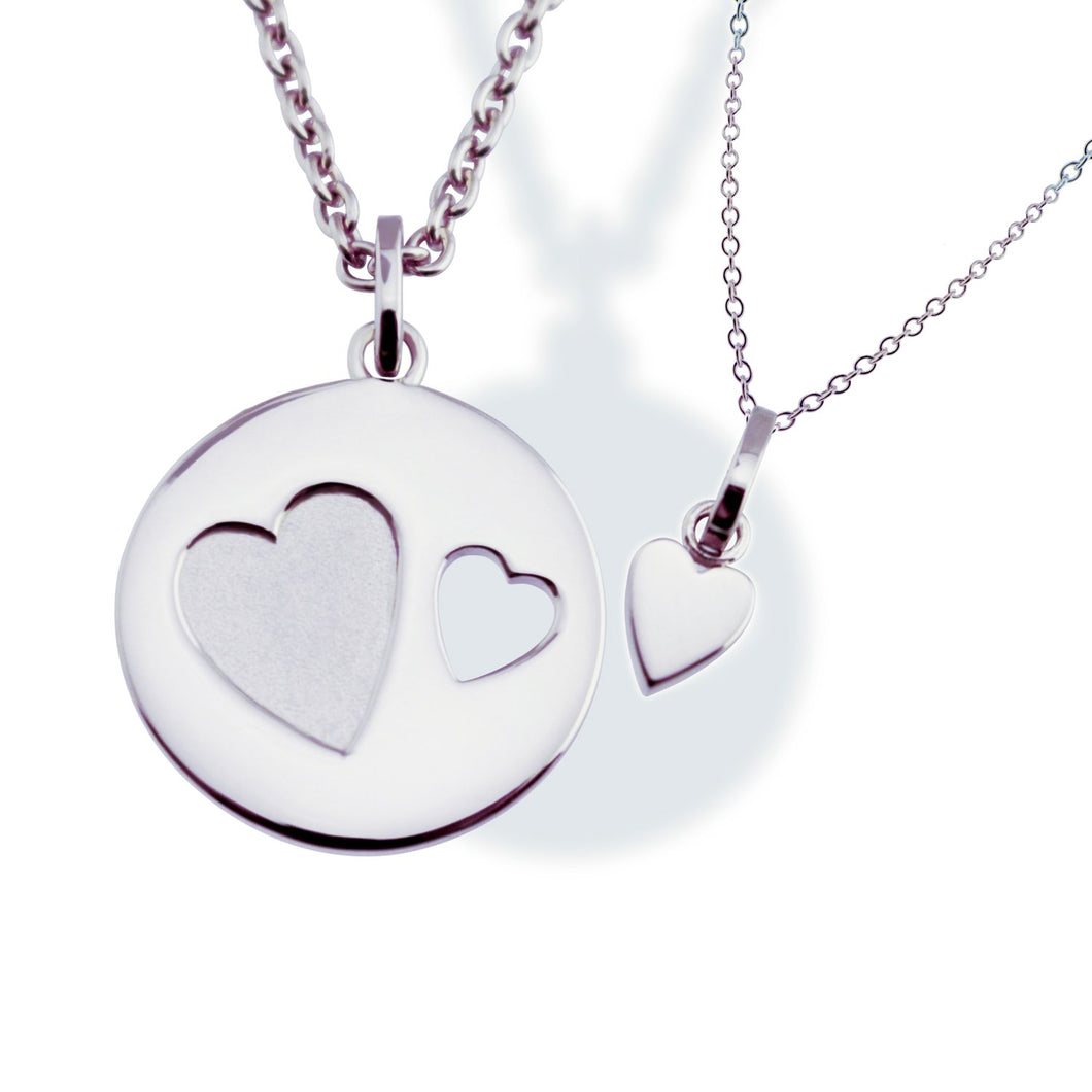Me & You Necklace Sterling Silver Set