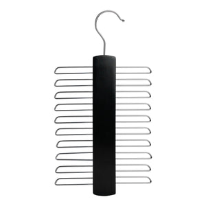 Nicholas Winter Wooden Tie / Belt / Scarf Hanger - Black
