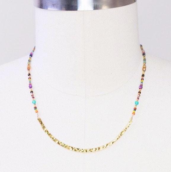 Necklace - Confetti Meridian Necklace - Gold - 11211