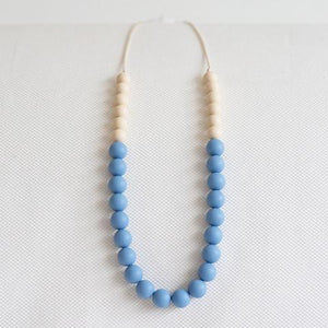 Peachtree Teething Necklace Two-toned Blue Biscotti