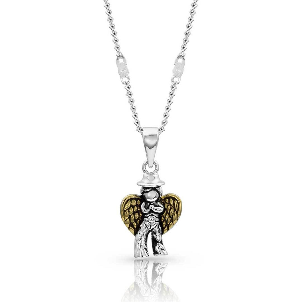 Montana Silversmiths Cowboy Angel Necklace