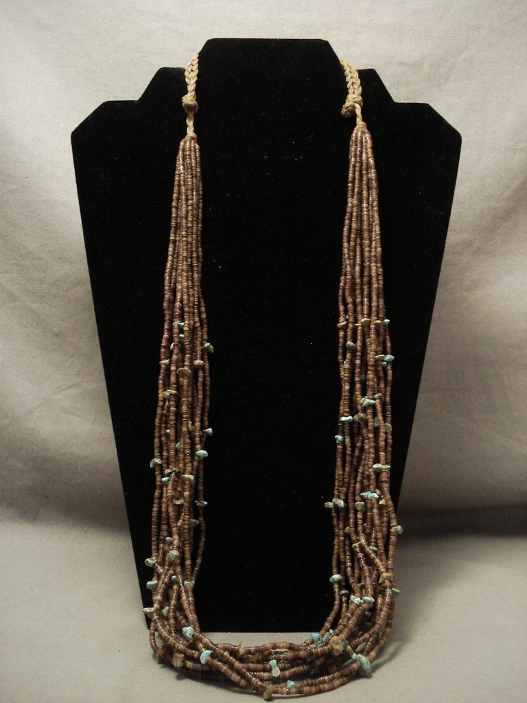 Early And More Rare Vintage Navajo Native American Jewelry jewelry Royston 'Double Wrap' Necklace