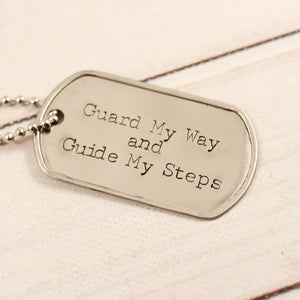 Personalized, Dog Tag Necklace / keychain - your choice of text!