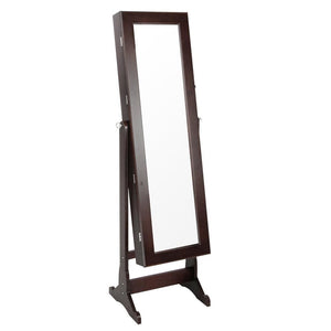 Mirror Jewellery Cabinet Storage 146cm Walnut