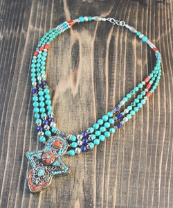 Enchanting Vintage Tibetan Necklace