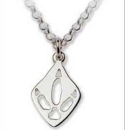 Emu Silver Footprint Necklace  Bushprints