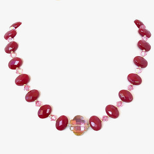 Ruby: Pink Crystal Necklace