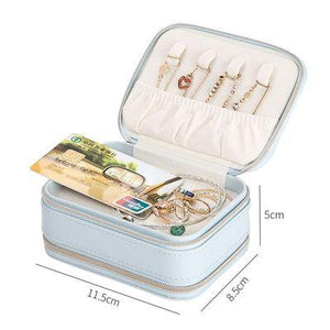 JTO Portable Travel Jewelry Box Cosmetic Makeup Organizer Jewelry box Earrings Display Rings Organizer Jewelry Casket Carrying Case