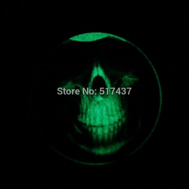 Glow in the Dark Pendant vintage skull necklace