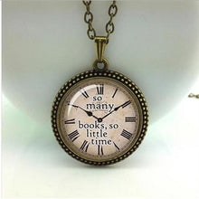Load image into Gallery viewer, Quote necklace watch pendant