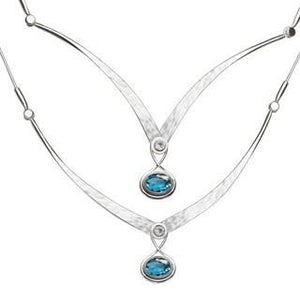 Silver Gemstone Kauai Necklace
