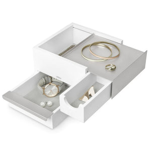UMBRA STOWIT MINI JEWELRY BOX WHT/NKL