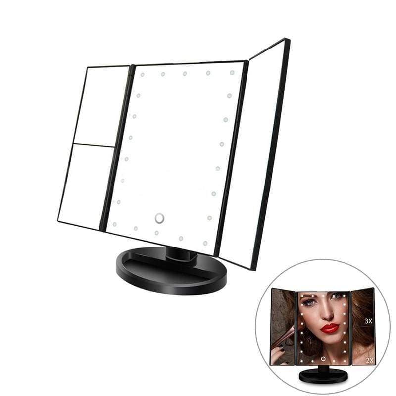 Vanity Trifold Makeup Mirror with 21 LED and Touch Screen