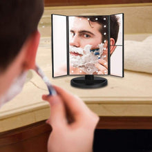 Load image into Gallery viewer, Vanity Trifold Makeup Mirror with 21 LED and Touch Screen
