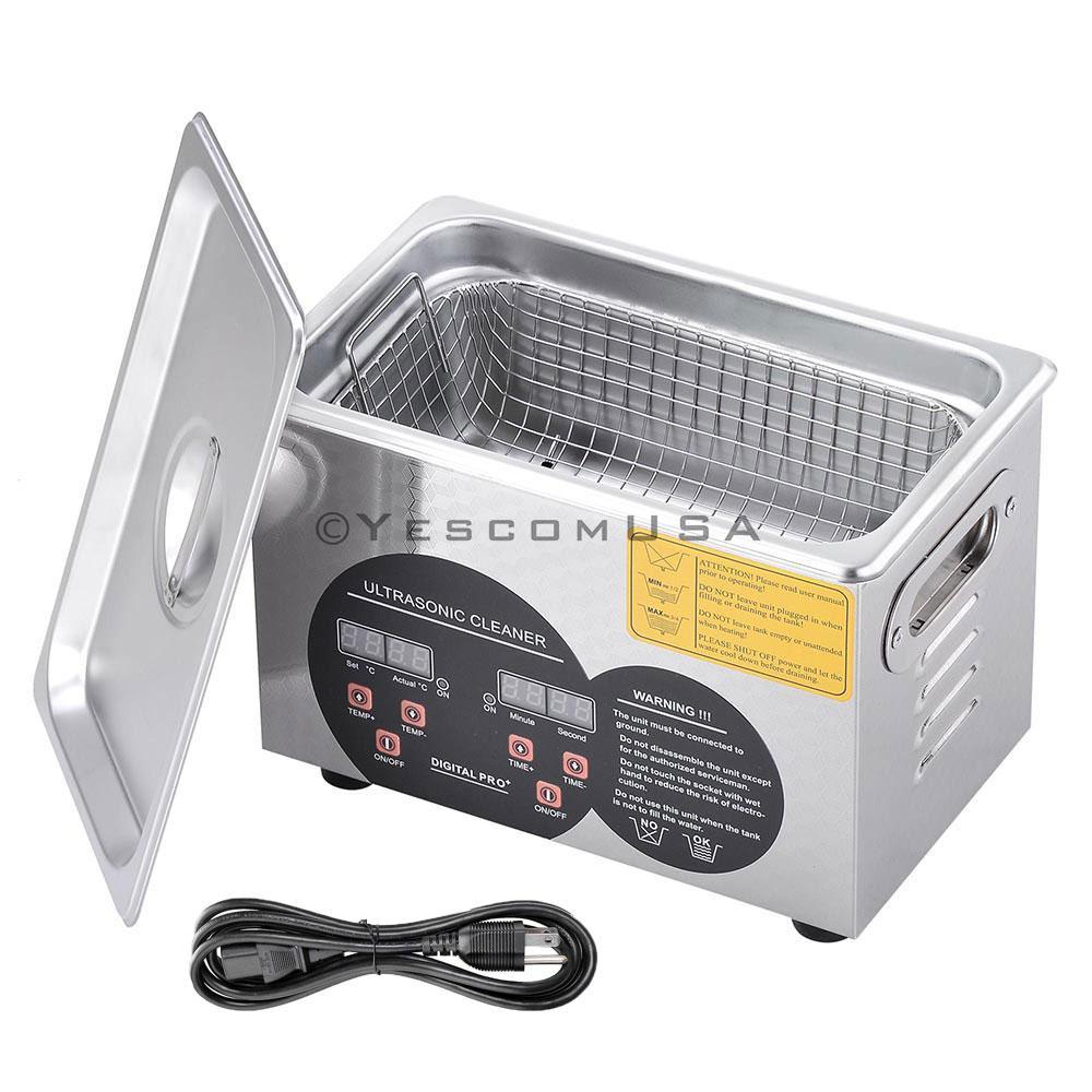 Yescom 3L Stainless Steel Digital Ultrasonic Cleaner Machine