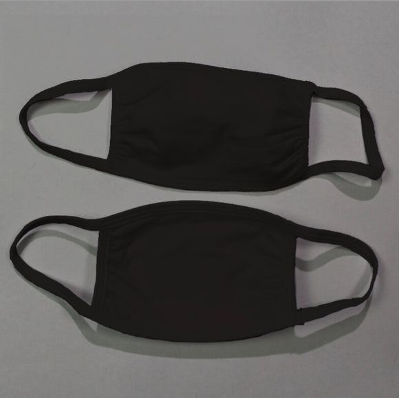 Blank Cotton Face Masks- Black