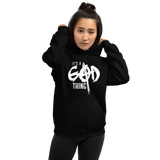 It's A God Thing Adult Unisex Hoodie: Black
