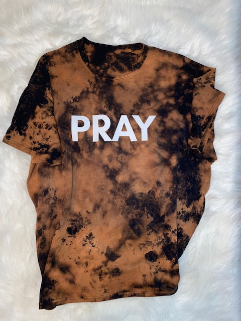 PRAY (Tie dye) adult T-shirt