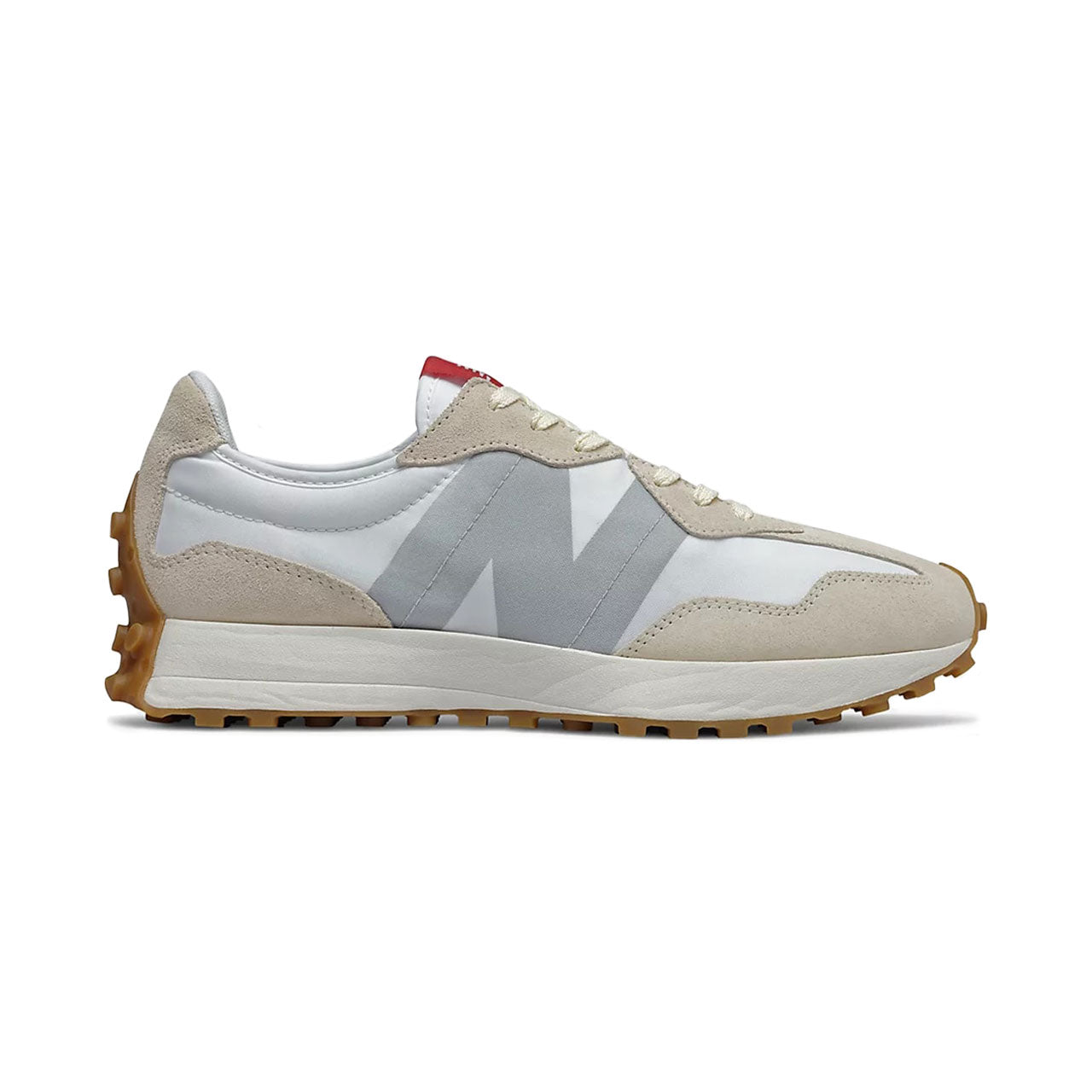New Balance 327 White Gum Sole Sneakers
