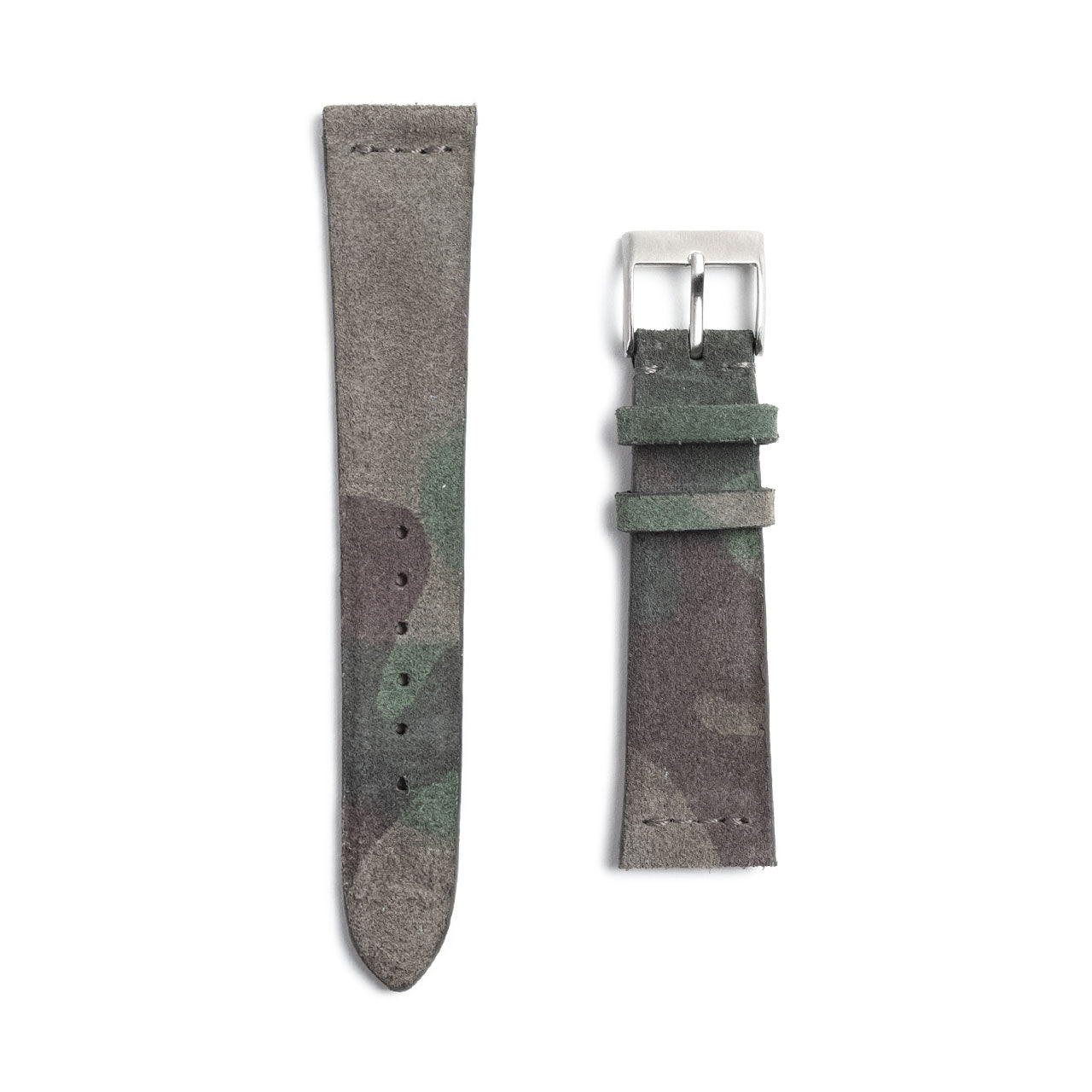 Suede Camouflage Watch Strap