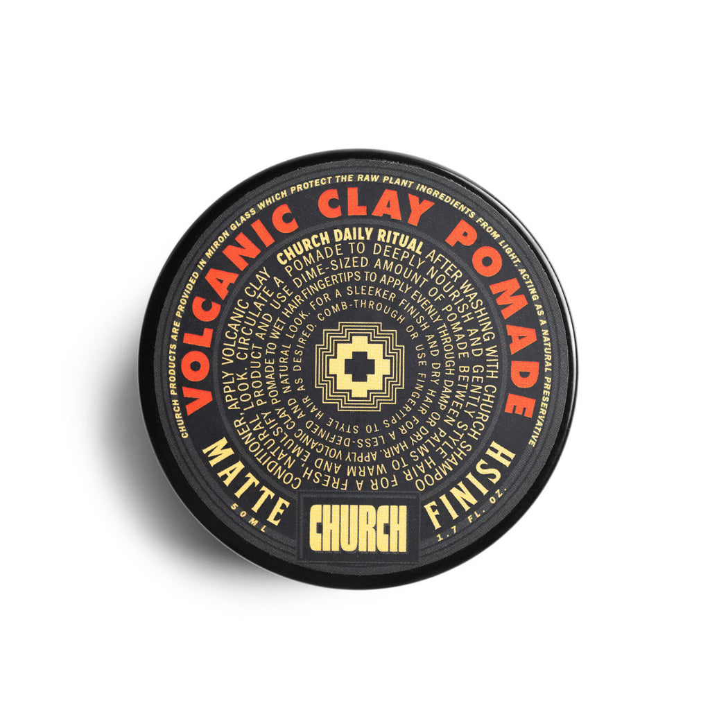 Church California Volcanic Clay Pomade