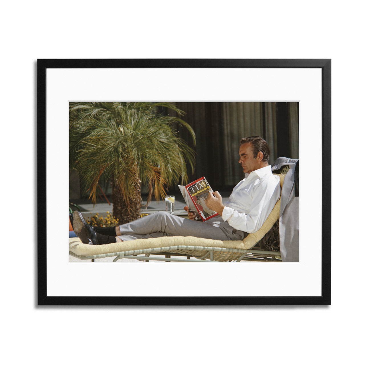 Sean Connery Lounging Framed Print