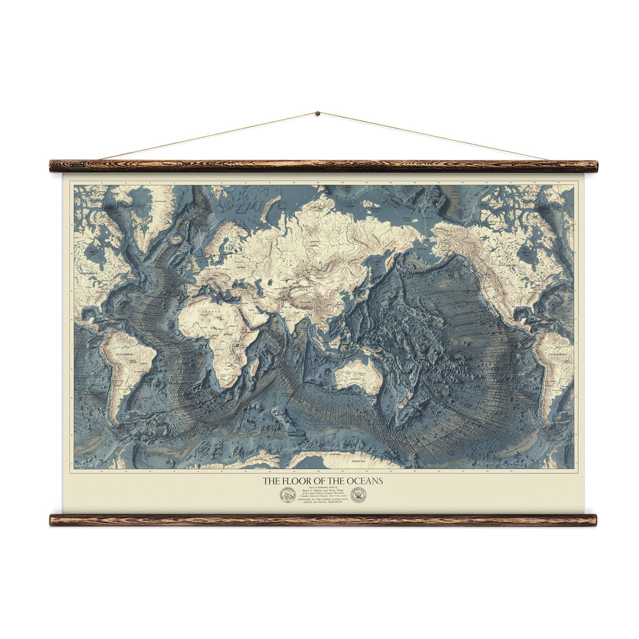 World Relief Map Print