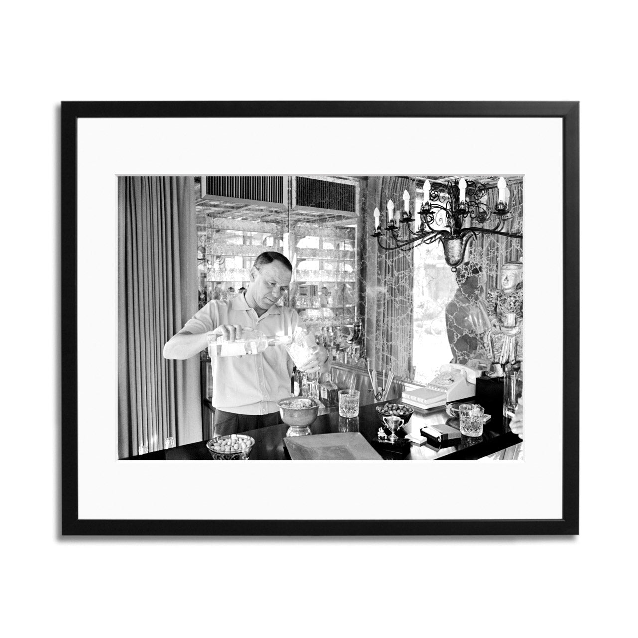 Frank Sinatra Pouring A Drink Framed Print
