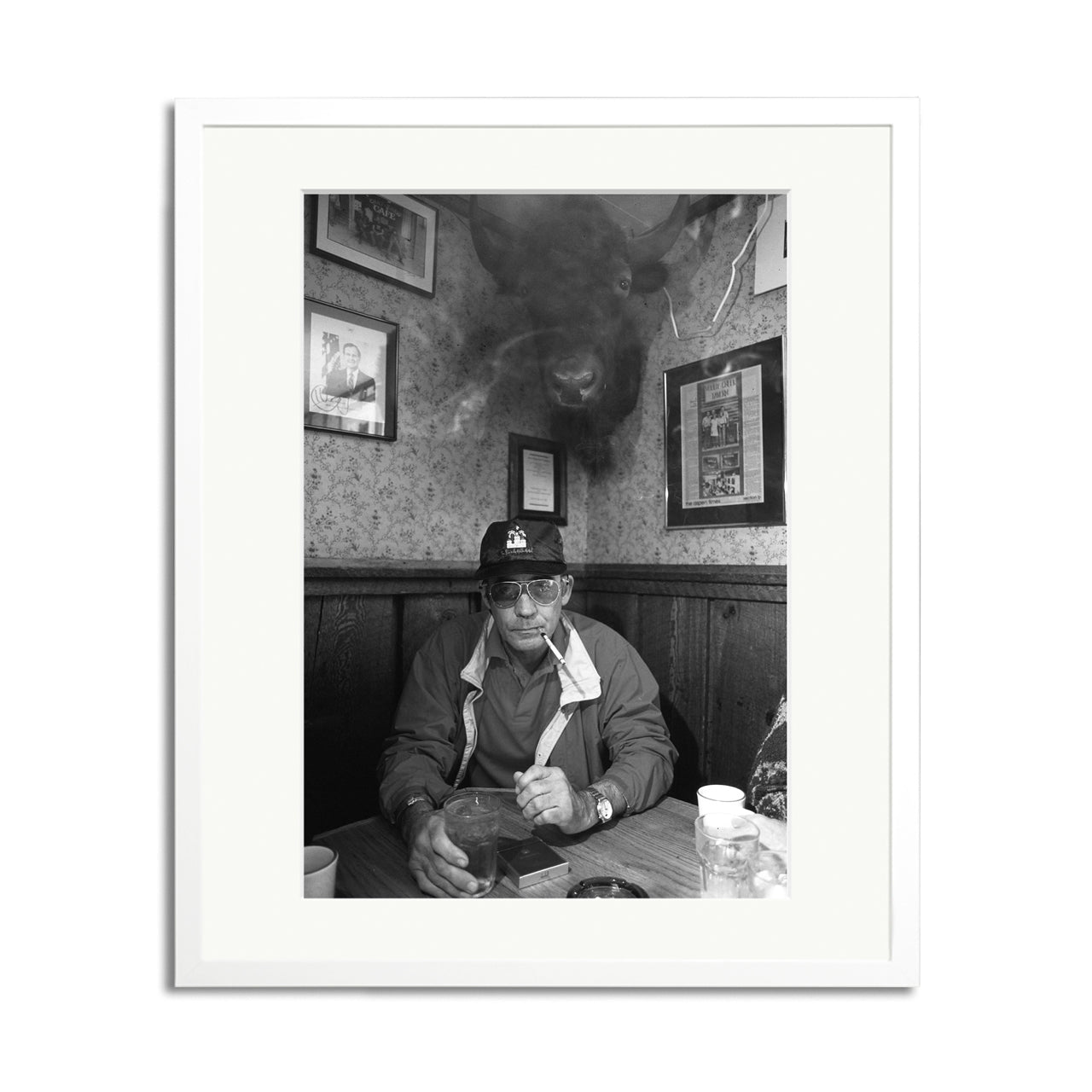 Hunter S. Thompson at The Woody Creek Framed Print