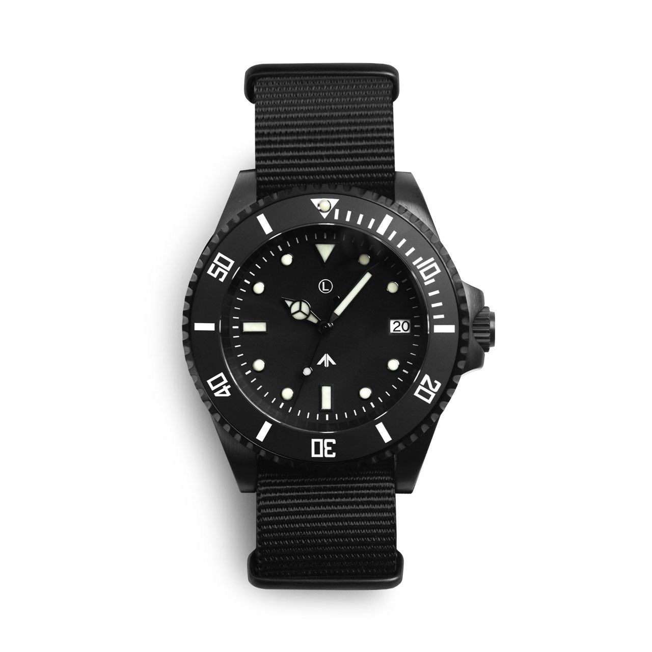 MWC Black Military Sub Watch