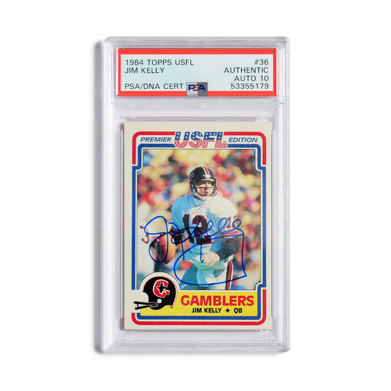 1984 Topps Jim Kelly Autographed Rookie Card