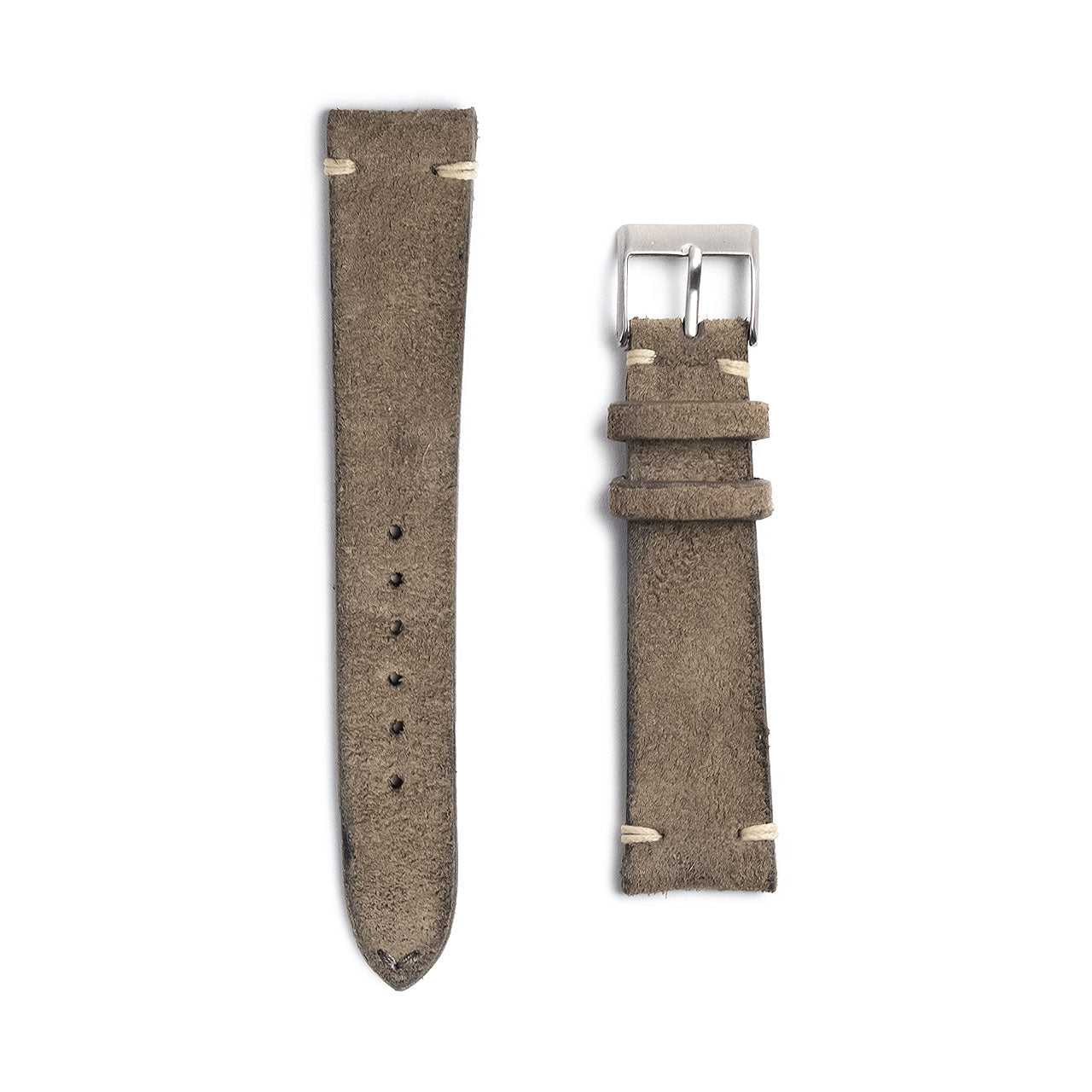 Grey Suede Watch Strap