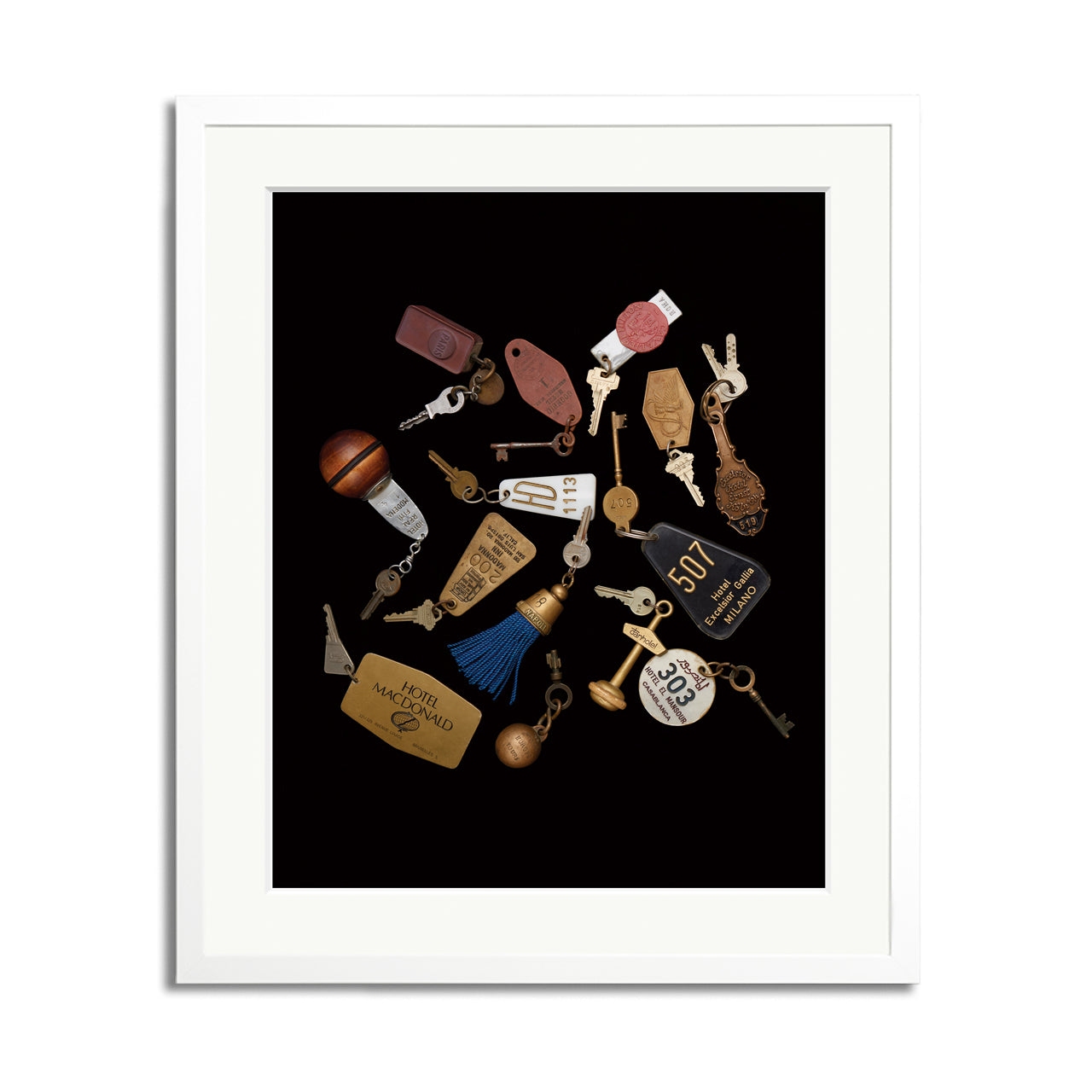 Travel Keys Framed Print