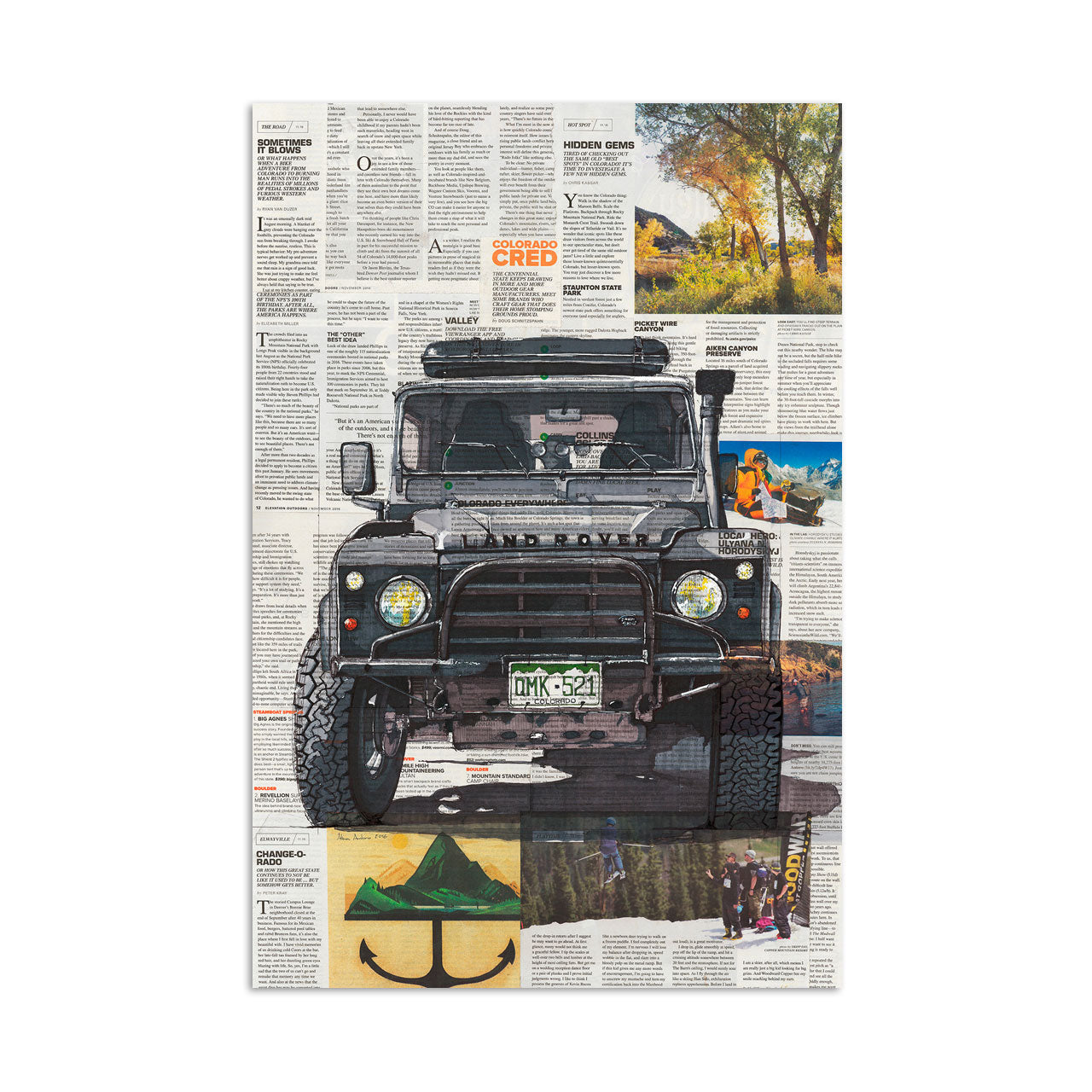Land Rover Art Print