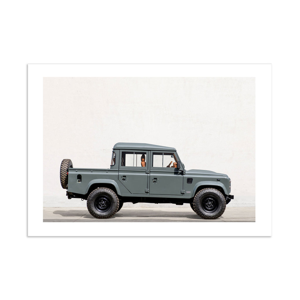 Land Rover Defender Crew Cab Art Print