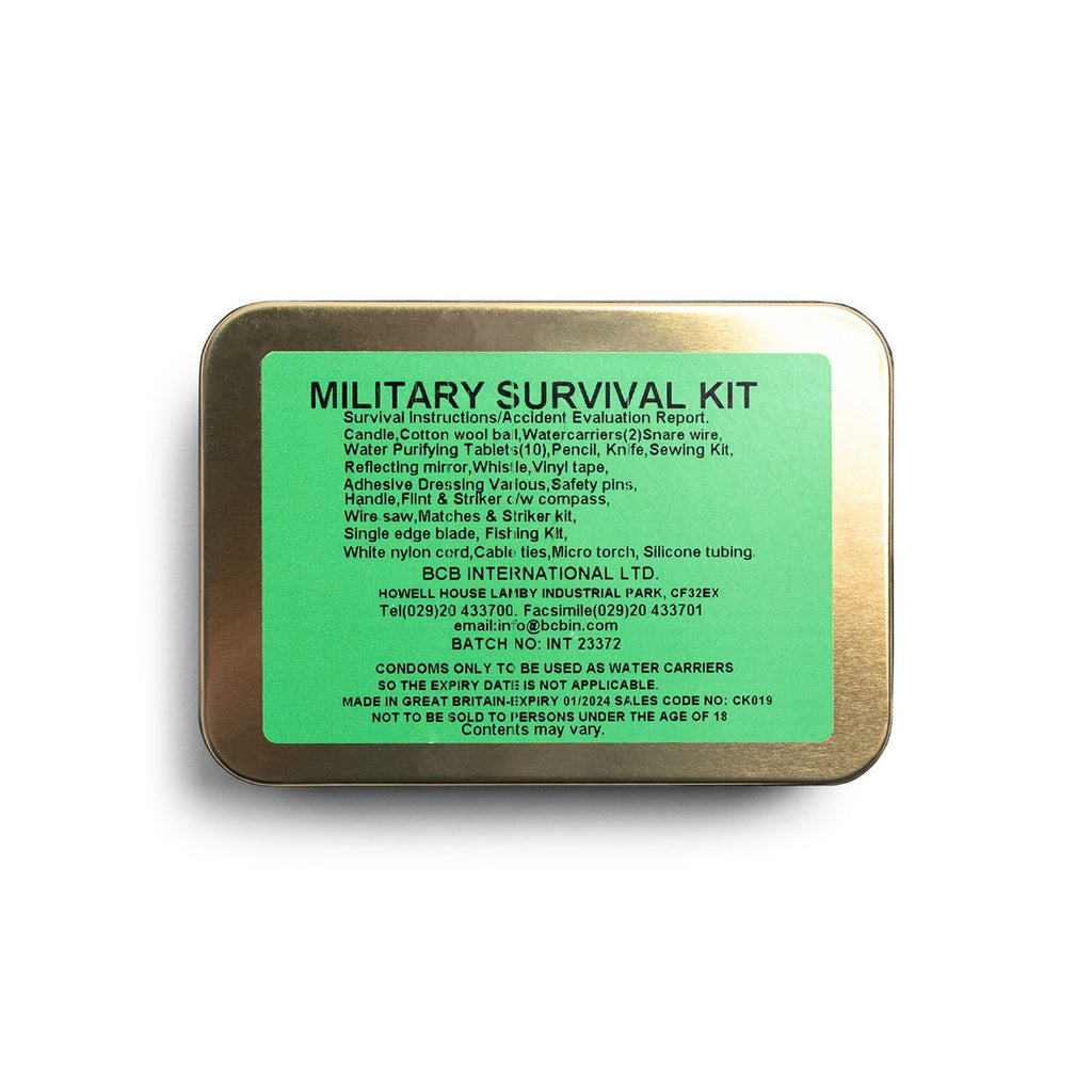 Military Survival Tin