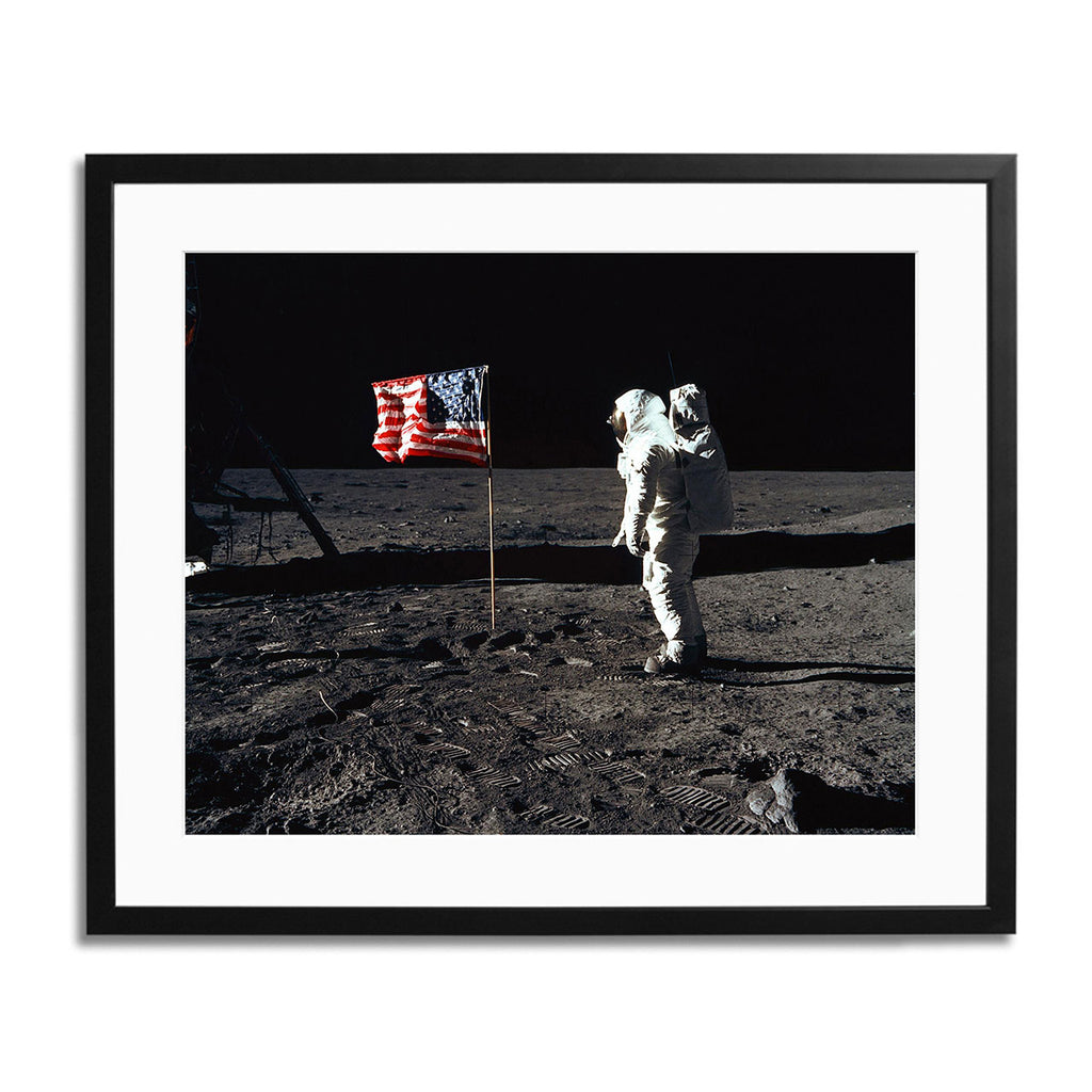 Apollo 11 Moonwalk Framed Print