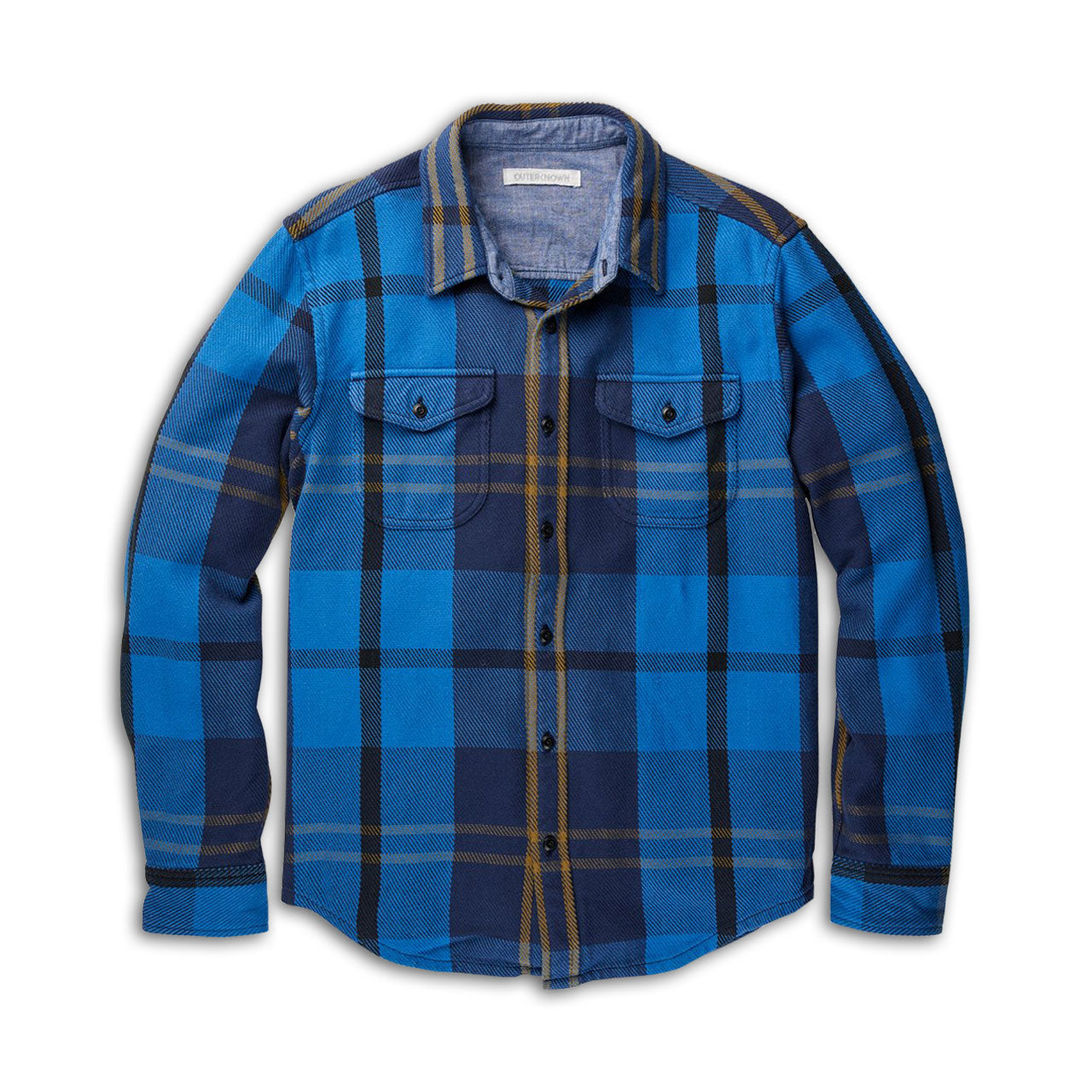 Outerknown Country Blue Plaid Blanket Shirt