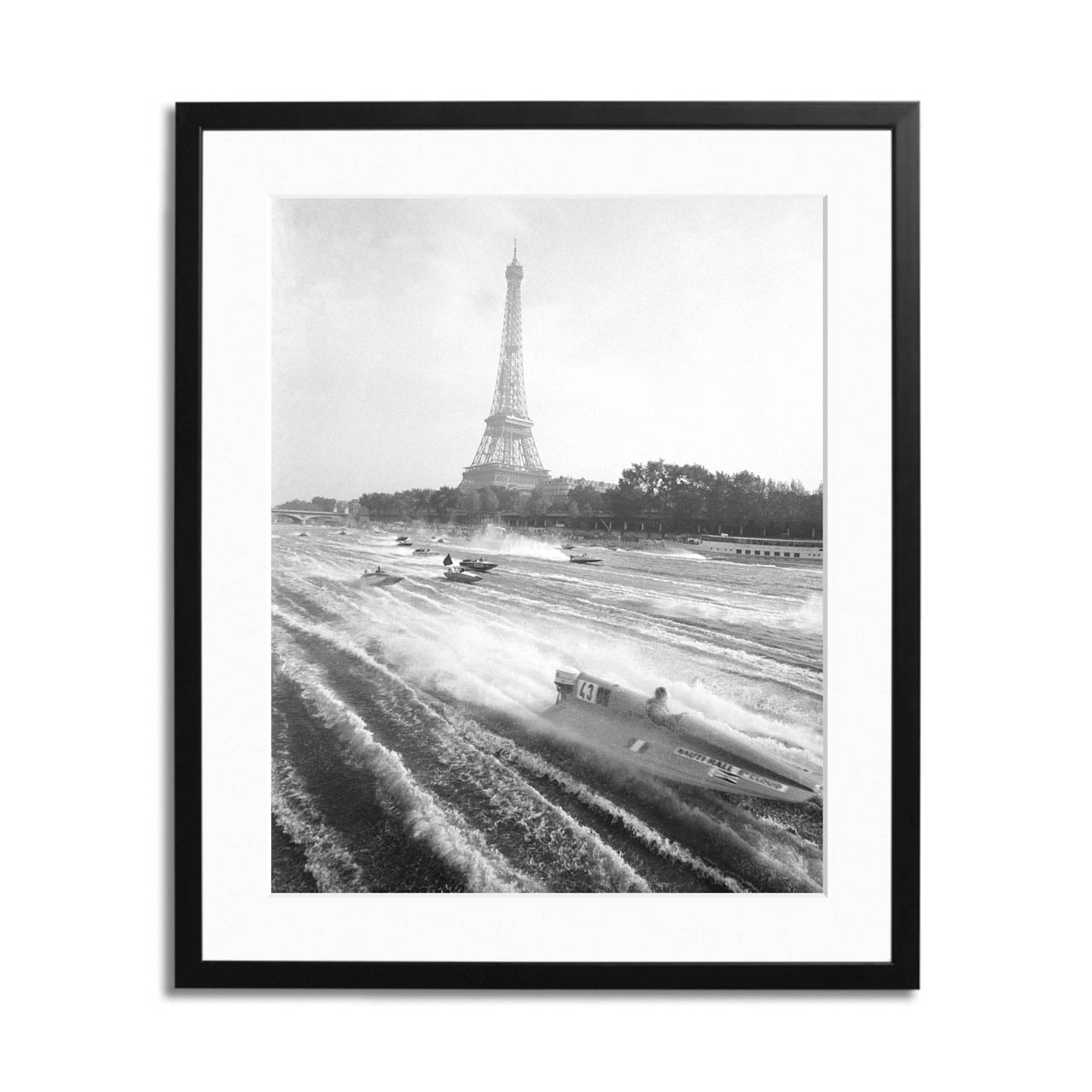 Paris Boat Racing Framed Print