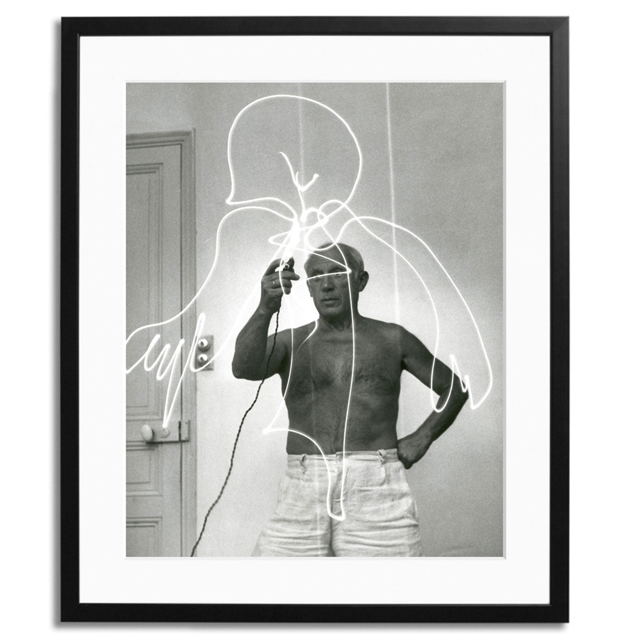 Pablo Picasso Light Drawing Framed Print
