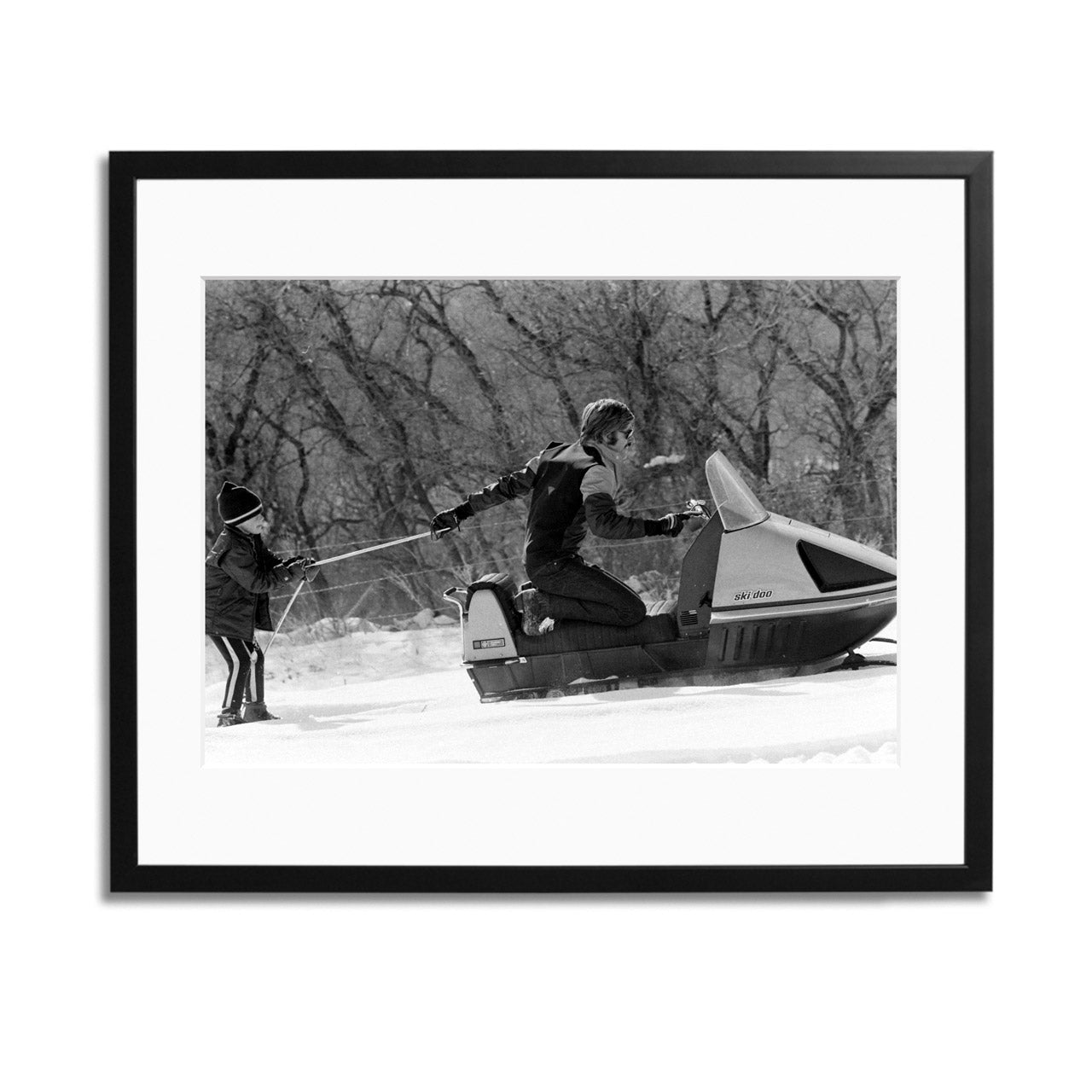 Robert Redford Snowmobile Framed Print