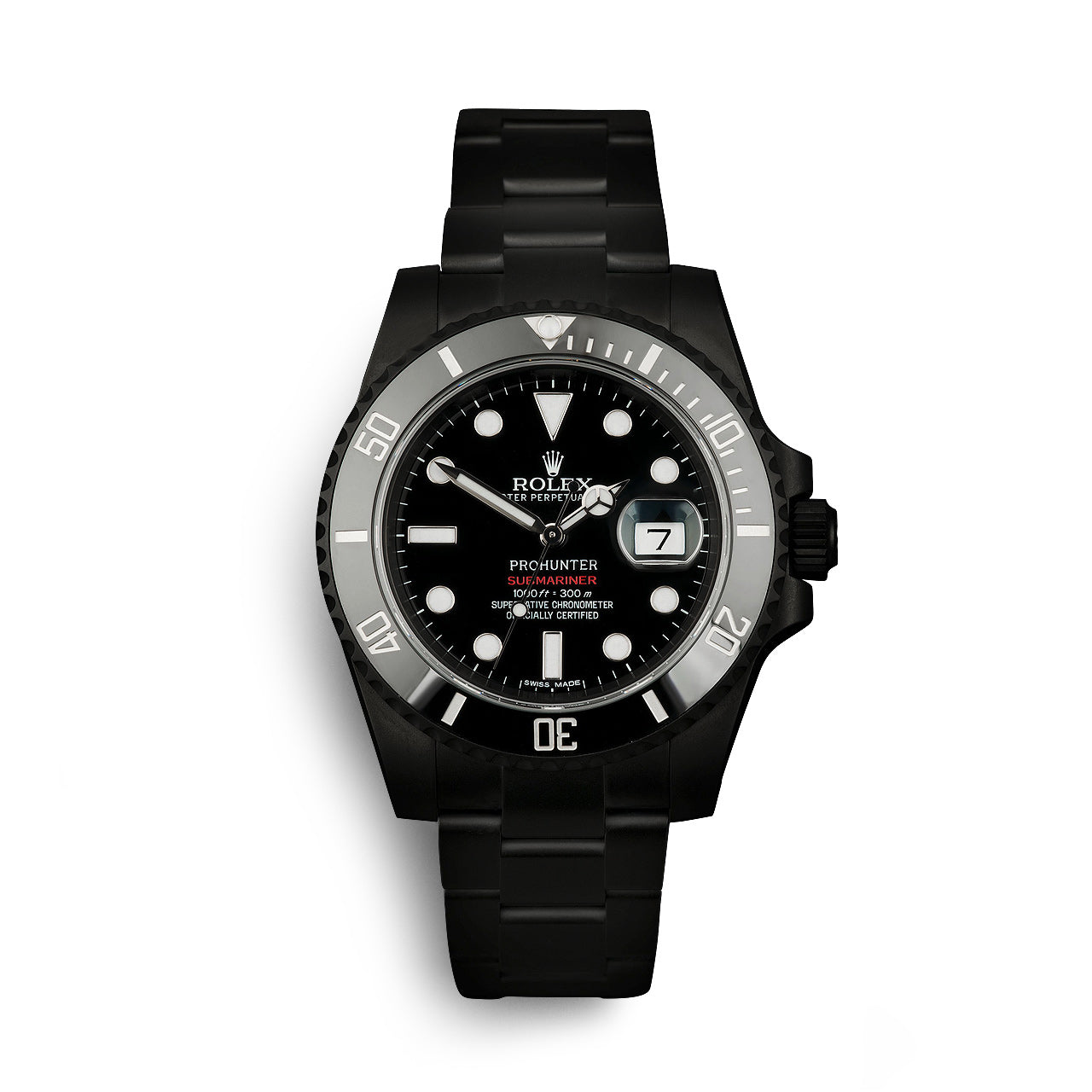 Pro Hunter Rolex Submariner Date Stealth Watch
