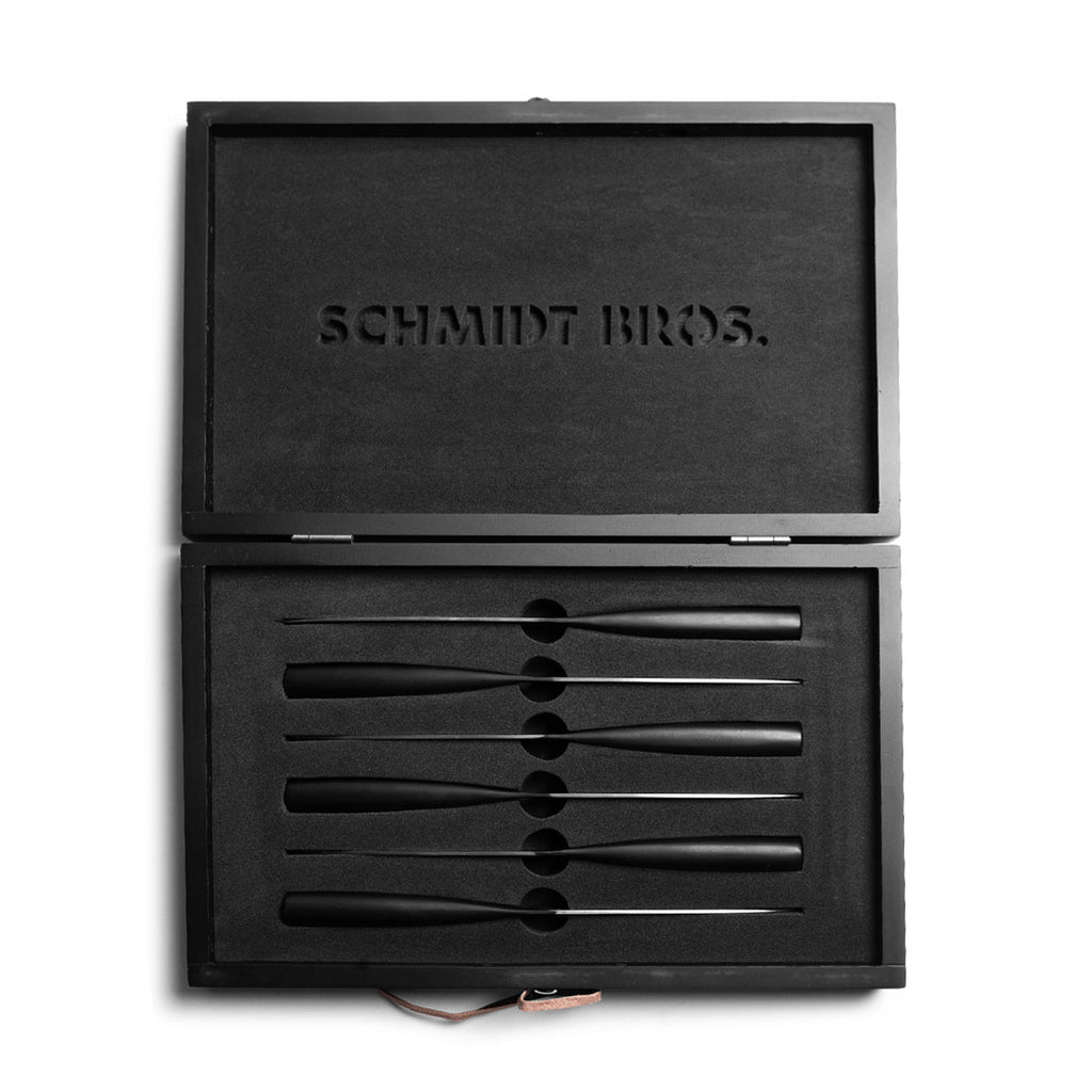 Schmidt Bros. Carbon Steak Knife Set