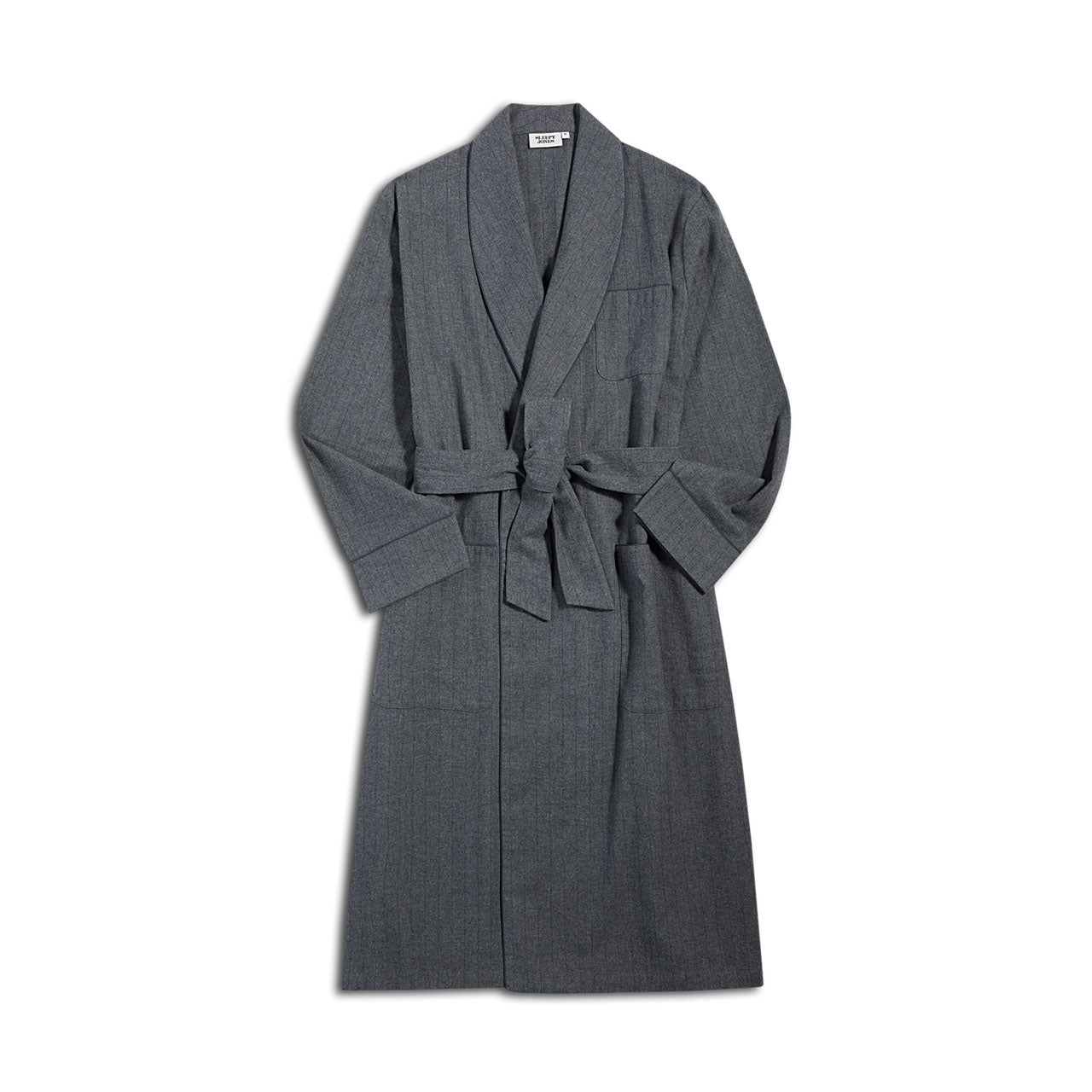 Sleepy Jones Flannel Pinstripe Robe