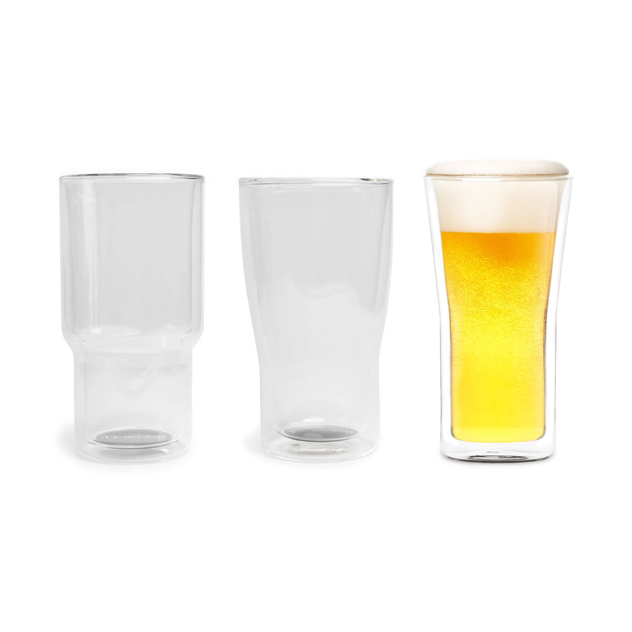 Double Walled Beer Glasses