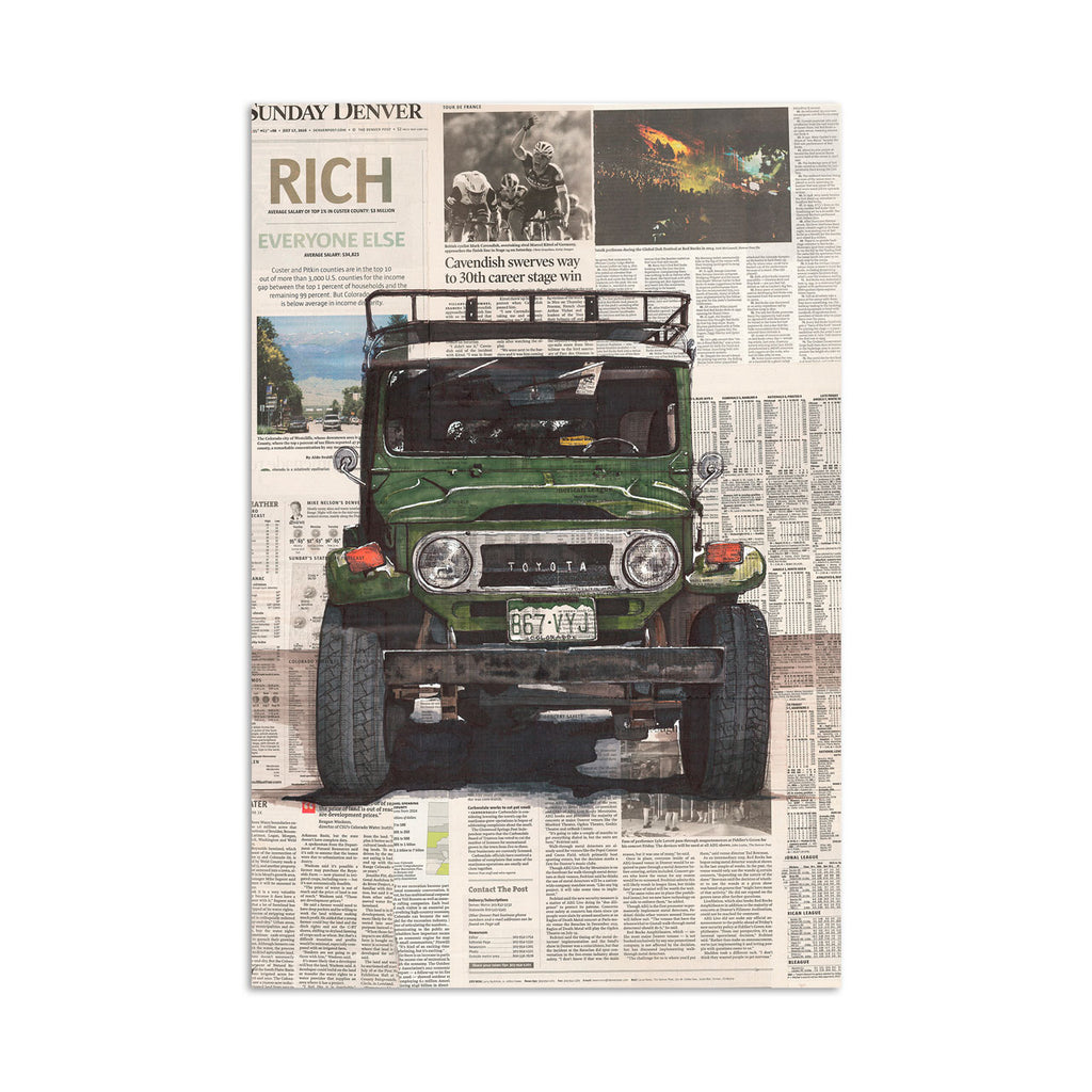 Toyota Land Cruiser 40 Art Print