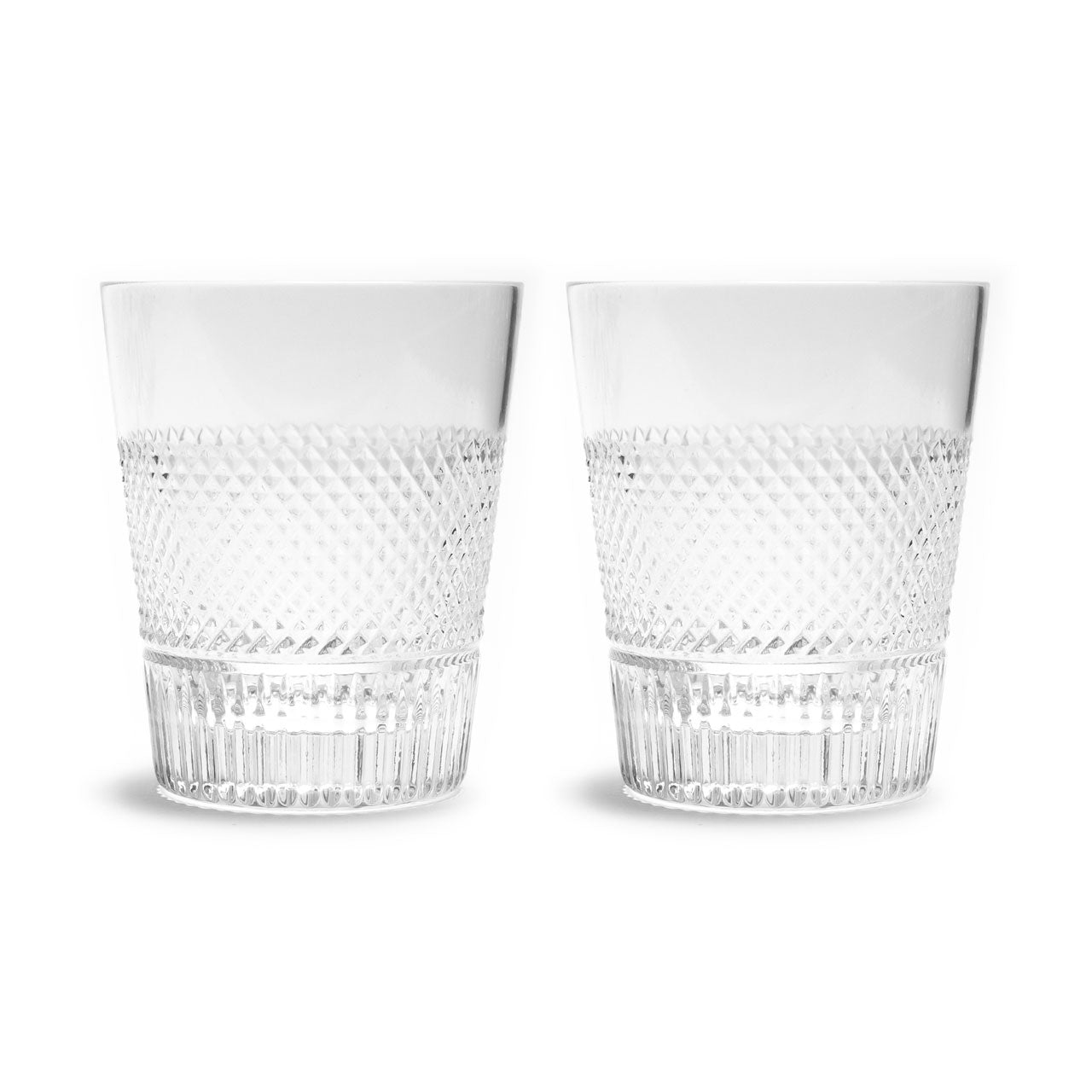 Waterford Crystal Diamond Line Double Old Fashioned Glasses