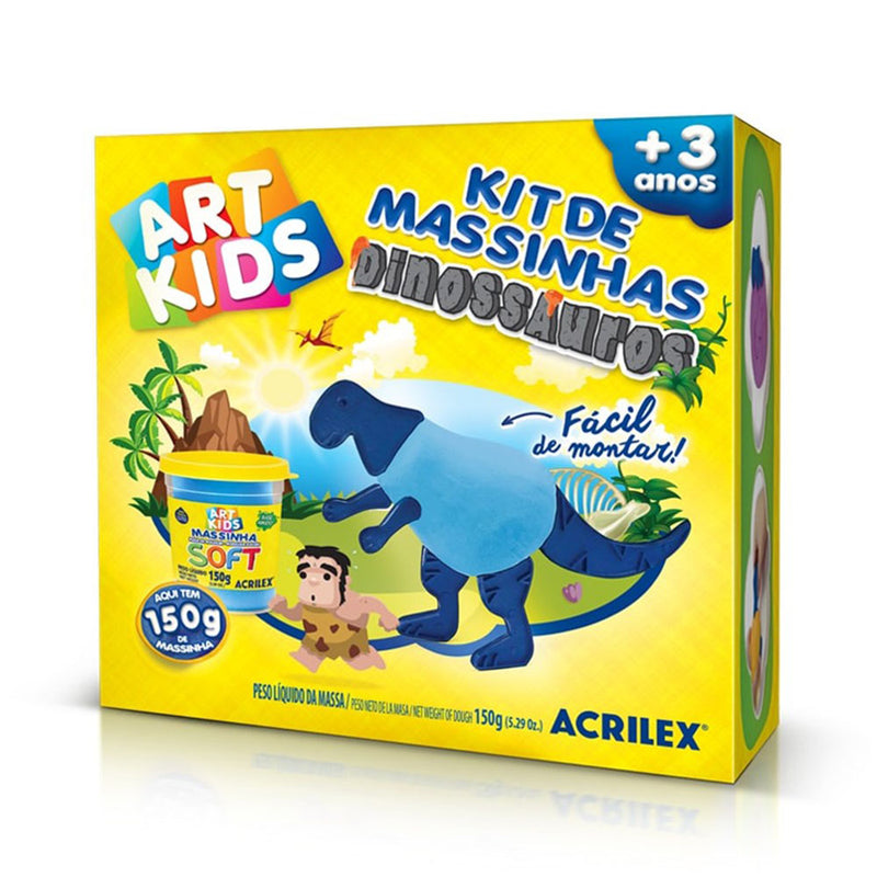 Kit Massinhas Dinossauro Azul Arts Kids - Acrilex - AfricanArtesanato